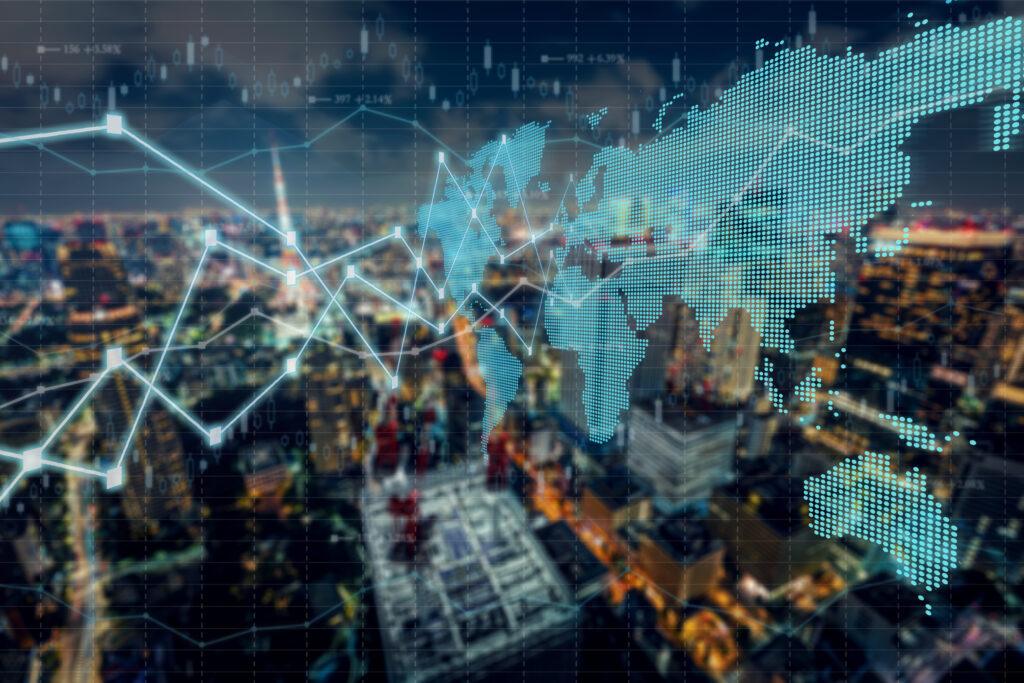 Background stock market and finance economic of Tokyo - Japan